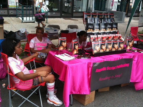 Angelic Script Publishing table @ Harlem Book Fair