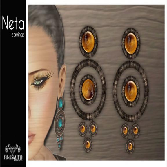 Neta Earrings Tigereye