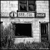 Abandoned Grocery, Dana, N.C. (qixtepr) Tags: bw building abandoned square decay sfx abandonedbuilding 500x500 bsquare sep2 dananc borderfx sbfmasterpiece sbfgrandmaster landscapedynamic bsquarecontestabandoned bsquare3rdplace 5x5bw87
