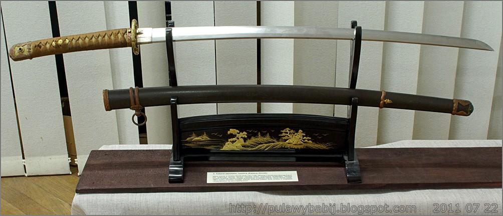 Miecz japoński Katana Shinto w Muzeum Ziemi Biłgorajskiej