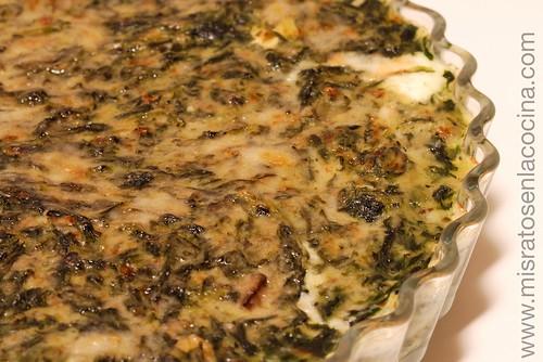 Espinacas a la crema con champiñones