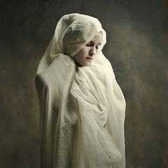 white silent stone... (martikson) Tags: light portrait white girl stone silent figure ludwika martikson obramaestra