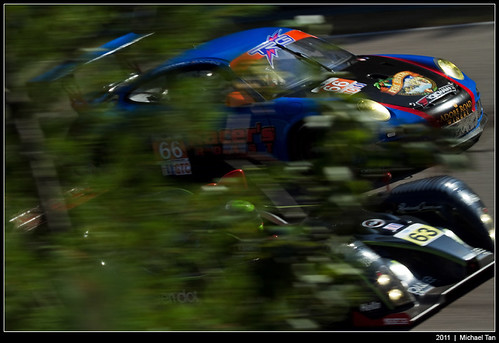 American Le Mans - Sunday race - TRG and Genoa Racing behind the trees