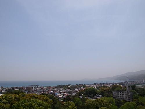 小田原城 天守閣からの眺望