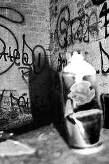 (d.o.photo) Tags: light white black monster composition contrast graffiti photo paint do shoot photographer dom can spray harris