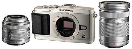 Olympus E-P3 Twin Lens Kit, priced at S$1,548.00 (incl GST).