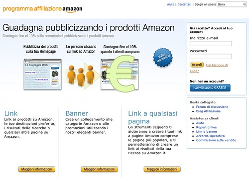 Programma affiliazione Amazon