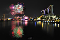 The Night That The Lights Never Went Out | Part 3 | Singapore NDP fireworks 2011 (naza.carraro) Tags: show park city travel party vacation holiday color water festival museum architecture marina river geotagged bay flyer sand nikon singapore asia fireworks quay esplanade ndp cbd fullerton temasek singapura mbs raffles sungai ntuc kunststoff kallang maybank 2011 naza artscience naza1715 nazarudin
