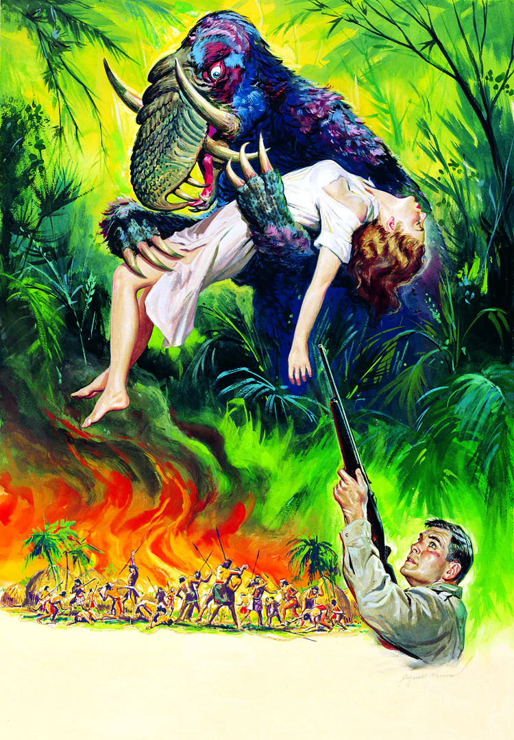 Reynold Brown - poster illustration (unused) for Curucu, Beast of the Amazon (1956)