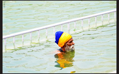 dip of faith (drkingks) Tags: old sikh amritsar sarowar golentemple