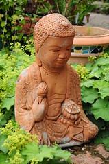Garden Buddha (EJ Images) Tags: uk england slr statue garden suffolk nikon terracotta buddha dslr eastanglia nikonslr d90 exoticgarden nikondslr nikond90 henstead dsc4839 18105mmlens hensteadexoticgarden