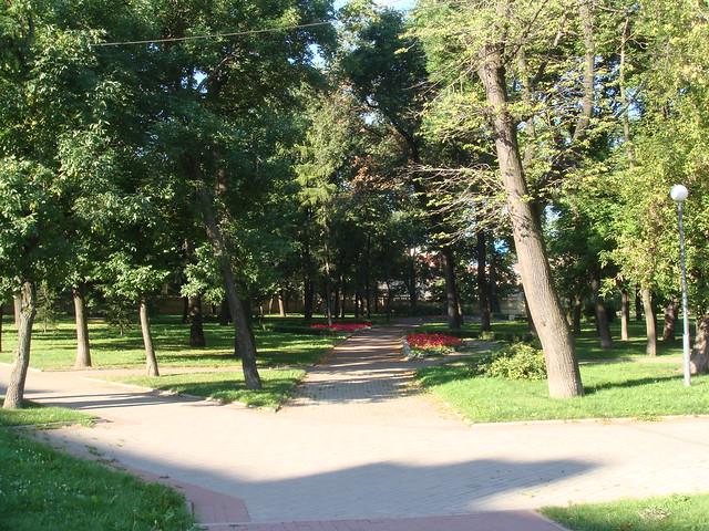 Парк у Фонтаки // Park near the bridge