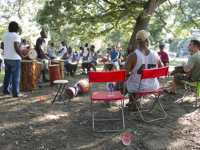 Drum Circle, Prospect Park