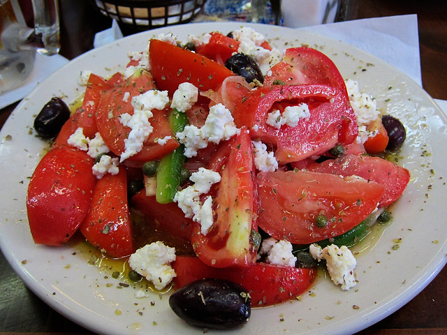 Creole Tomato Salad at Mena's in the French Quarter