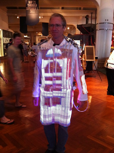 TV coat, Maker Faire Detroit