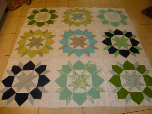 Finally, a quilt top.