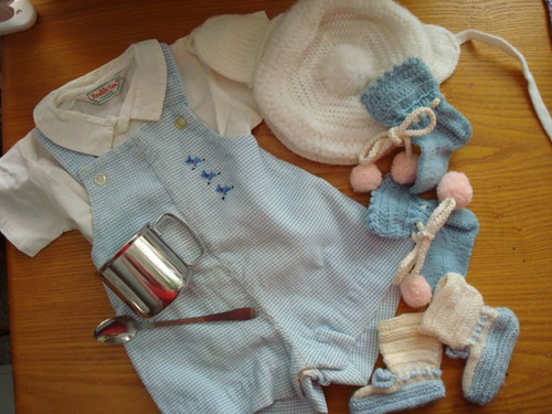 Mark's baby clothes