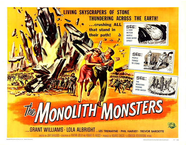 Reynold Brown - The Monolith Monsters (Universal International, 1957) half sheet