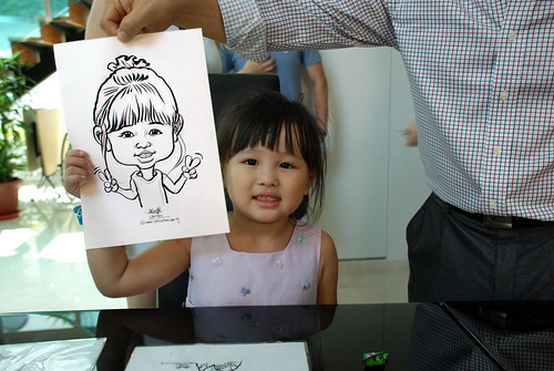 caricature live sketching for wedding solemnisation - 2
