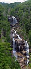 White Water Falls South Carolina (Ted Dobosz) Tags: usa white water canon pentax mosaic south falls 55mm carolina hdr 550d vertorama
