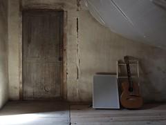 Door and guitar (RedStar 21) Tags: door wood france guitar oldhouse attic floorboards crumbling aquitaine mezin