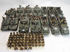 "WWII- U.S. 3rd Armored Division (old dark grey) (""Rumrunner"") Tags: world men infantry army war gun mood tank lego wwii stuart ii american ww2 priest decal ww division waterslide custom m3 armour armored 3rd sherman worldw"