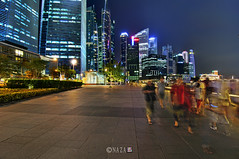 The Night That The Lights Never Went Out | Part 9 | Singapore (naza.carraro) Tags: show park city travel blue light party vacation holiday color water festival museum architecture marina river geotagged lost bay town sand nikon singapore asia ghost quay hour clark esplanade ndp cbd fullerton merlion temasek singapura mbs raffles sungai ntuc kallang maybank 2011 naza artscience naza1715 nazarudin