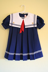 Vintage Sailor Girl Dress (honor) Tags: blue red white girl vintage dress navy button anchor sailor nautical collar 6t etsyveg