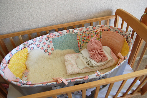 a new moses basket and hand knits