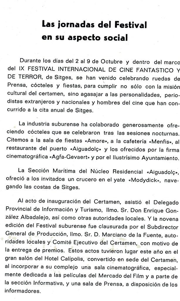 Sitges 1976 - Vida Social