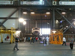 Space Shuttle Discovery in the VAB