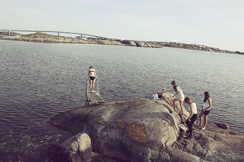 Var på Hönö och badade med brudar