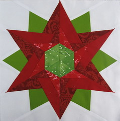 Block for Nancy (jenjohnston) Tags: christmas red green quiltblock paperpieced quiltingbee