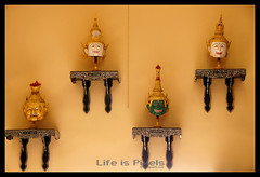 Khon Head Figures (LifeisPixels - Thanks for 650,000 views!) Tags: museum court giant lens thailand temple is dance priceless sony traditional chinese entrance objects sala used thai historical 16 alpha which sian artifacts dt sien usd fee the countess merely chonburi a55 anek kuson viharn 18250mm lifepixels viharnra 356318250 lifeispixels sonyalphathailand sienchonburi lifeispixelscom