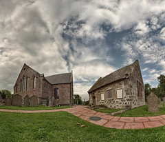 Church (P7311269) (Mel Stephens) Tags: uk scotland dunnottar woods 2011 aberdeenshire visions panorama panoramic stitched ptgui aberdonia gps geotagged