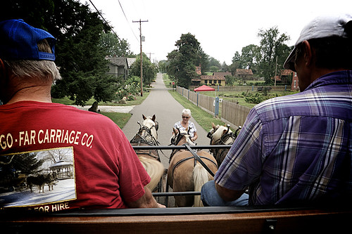 Zoar Ohio Harvest Festival 2011:  View from the wagon.