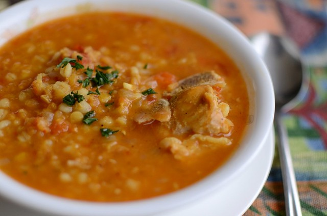 A Daily ObsessionSpicy Red Lentils And Barley Soup