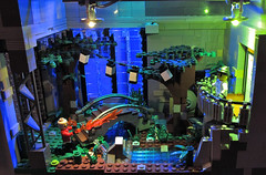 Arcadia with LEDs (Imagine) Tags: night toys lego artdeco rapture littlesister bigdaddy splicer bioshock imaginerigney