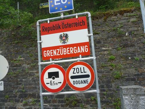 Grenzubergang Inn Österreich