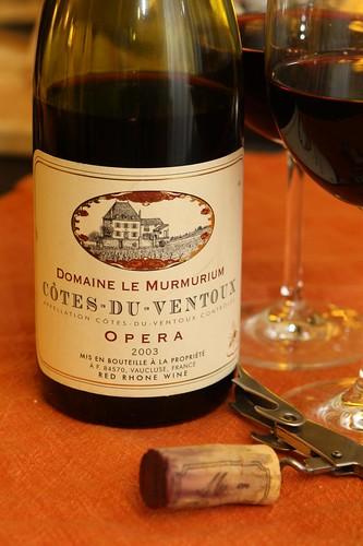 Domaine le Murmurium Cotes-du-Ventoux Opera 2003