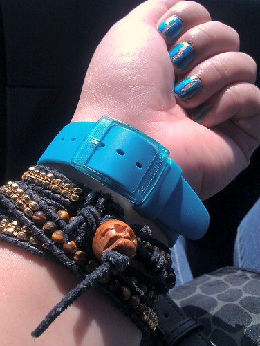 Loving the blasted teal polish by @Sephora and my matching teal @Swatch