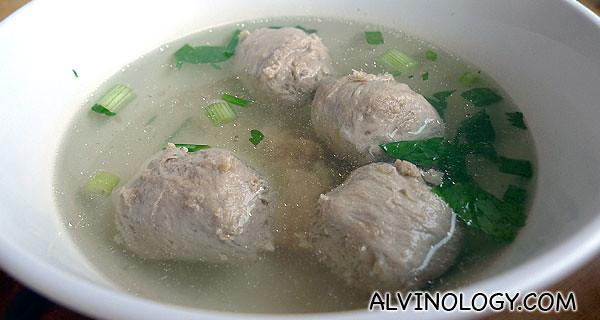 Beef Balls Soup Bee Hoon