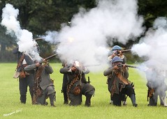 Smoke and Fire (day_sargent) Tags: history scotland battle battlefield reenactment selkirk livinghistory warfare scottishborders sealedknot philiphaugh