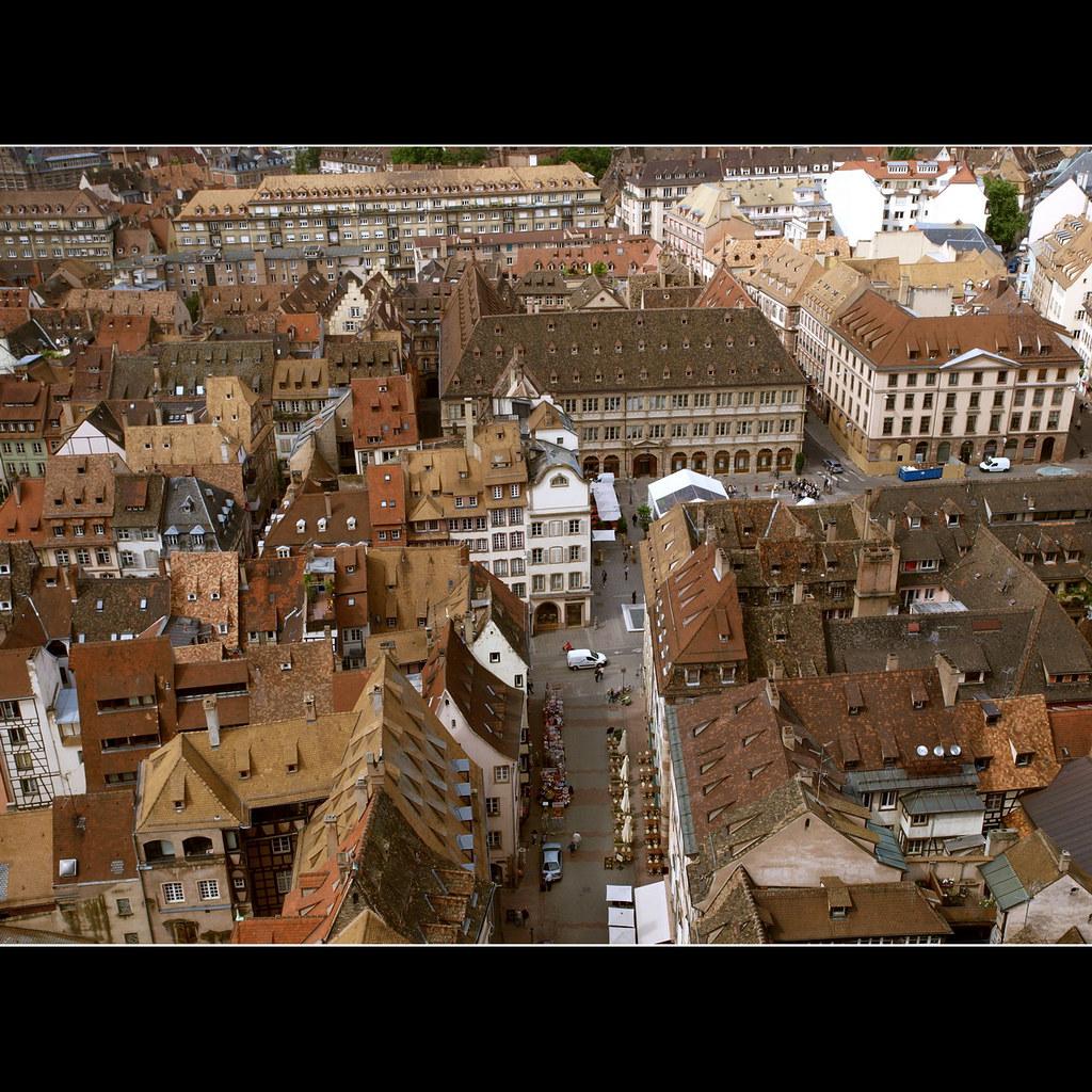 Sur les toits de Strasbourg