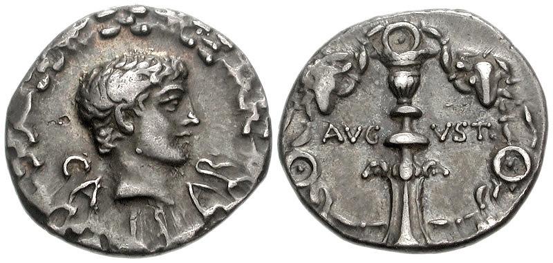 Augustus. 27 BC-AD 14. AR Denarius (18mm, 3.64 g, 7h). Uncertain eastern mint. Struck circa 12 BC.