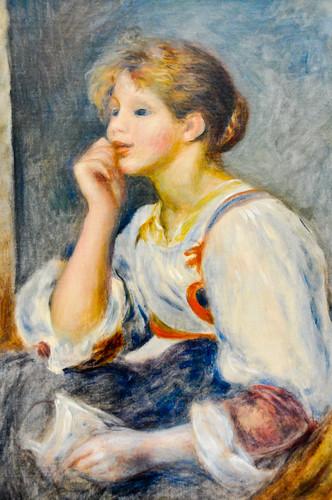 a la lettre com Pierre Auguste Renoir   Femme a la lettre, 1890 at Musée de l  a la lettre com