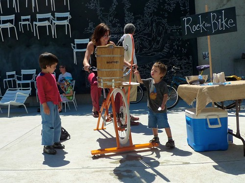 pedal powered ice cream maker