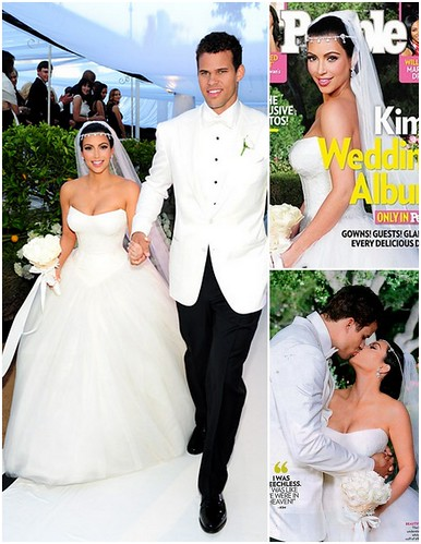Kim Kardashian 39s wedding When Kim arrived at her reception
