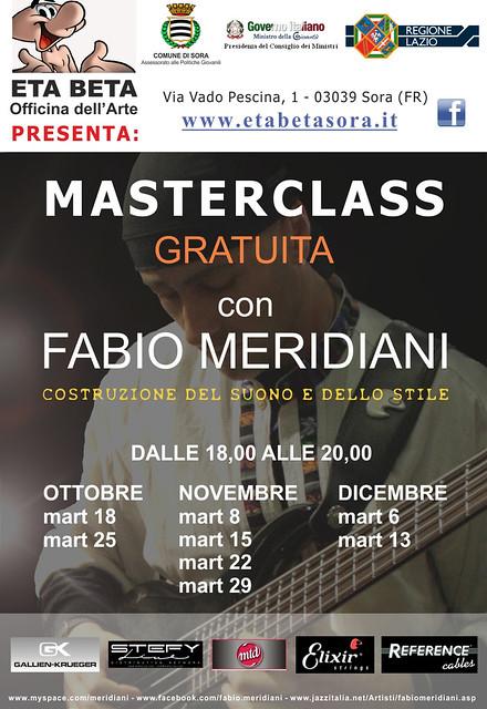"""Masteclass con Fabio Meridiani: """"Costruzione del Suono e dello Stile"""" , Nov-Dic 2011, Eta Beta - Sora (FR)"""