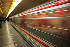 Prague metro. (foto.pro) Tags: travel train power czech prague metro transport commute undergound erlectric